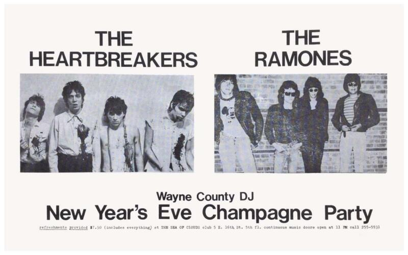 the RAMONES -POSTER- Johnny Thunders & the Heartbreakers LIVE 75