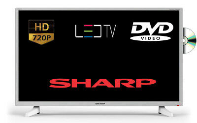 """Sharp LC-32DI3221KW 32"""" LED TV DVD Combi White With Freeview HD Tuner"""
