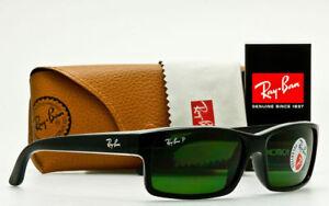 Ray Ban POLARIZED Sunglasses RB4151 601 2P Glossy Black W  Classic  Grey-Green 6b438b678e1b