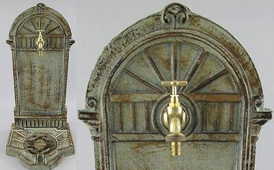 Standbrunnen 65cm 13kg Gusseisen, Gartenbrunnen, Ausgußbecken, Schlauchanschluß
