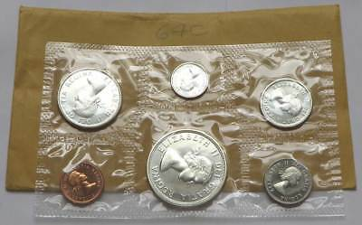 1964 CANADA SILVER PROOF-LIKE SET MINT SEALED SLEEVE COA BU/UNC DOLLAR PROOFLIKE