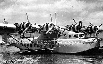 1936 PAN AMERICAN CLIPPER AIRPLANE OVER SAN FRANCISCO CA 8X10 PHOTO PAA AVIATION