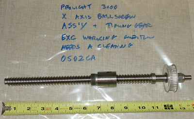 Intelitek Prolight 3000 Cnc Lathe Cross Slide Ball Screw X Axis Ballscrew 0502ca