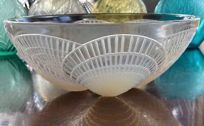 "8.25"" René Lalique Opalescent Coquilles Bowl Signed R Lalique #3201 Rene, used for sale  Houston"