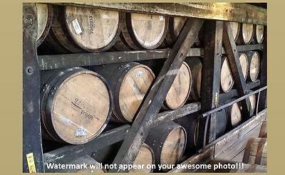 Bourbon Whiskey Barrels PHOTO Art Print Heaven Hill Kentucky Distillery Barrel