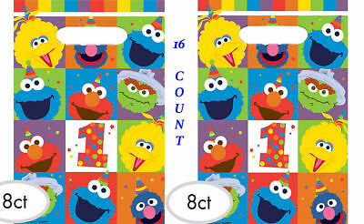 1st Birthday Party Loot Bags - Sesame Street Elmo 1st Birthday Favor Loot Bags FIRST Party Supplies Decoration