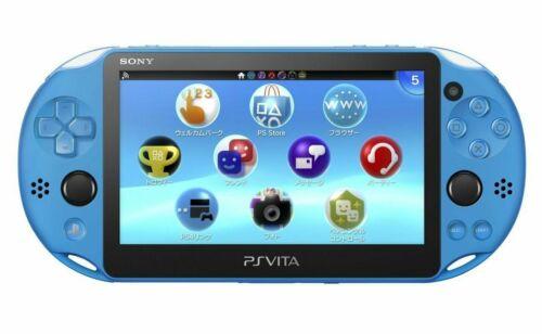 Sony+PS+Vita+Aqua+Blue+PCH-2000+Wi-Fi+Model+ZA23+Console+Playstation
