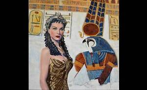 Egyptian Painting Hollywood Vivienne Leigh by Jane Ianniello Jindalee Brisbane South West Preview