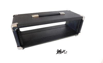 """Procraft 3U 9"""" Deep Black Tolex Studio Rack 3 Space FX - US Made - Rack Screws, usado comprar usado  Enviando para Brazil"""
