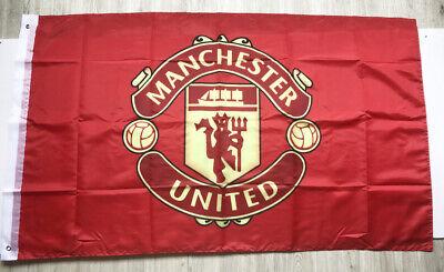 Manchester United 3X5FT Red Premier Football Soccer Flag  Banner 2Grommets/321