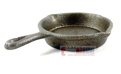 Small Rustic Cast Iron Skillet Decorative Kitchenware Home Decor Cookware 4 inch 4 Decorative Cast Iron