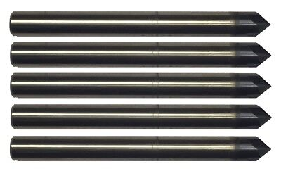 5 Pcs 18 4 Flute 90 Degree Carbide Chamfer Mill - Tialn Coated