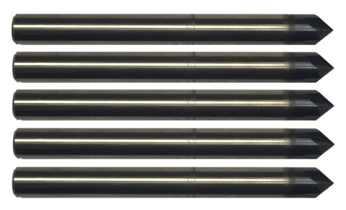 """5 pcs 1/8"""" 4 FLUTE 90 DEGREE CARBIDE CHAMFER MILL - TiALN COATED"""