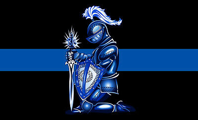 Blue Knight Thin Blue Line Police Decal Thin Blue Line Sticker   Various Sizes