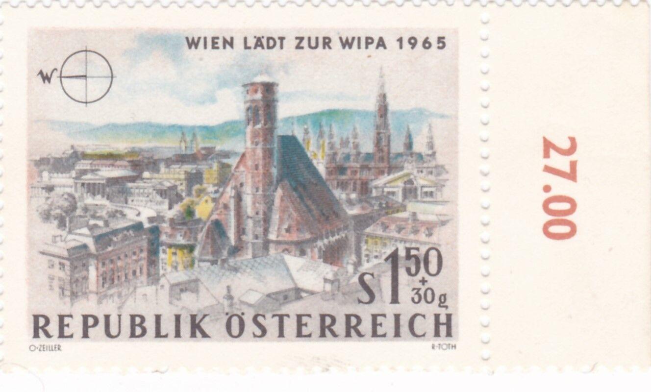 1,50 S+30g,Wien Läd zu WIPA 1965,WESTEN , ungestempelt , O Zelleer