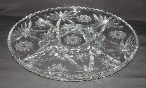 """Anchor Hocking EAPC """"Star of David"""" Large Round 5-Part Tray (Early Am Prescut)"""