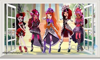 Ever After High 3D Window View Removable Wall decor Girls Stickers Art Mural](Ever After High Decorations)