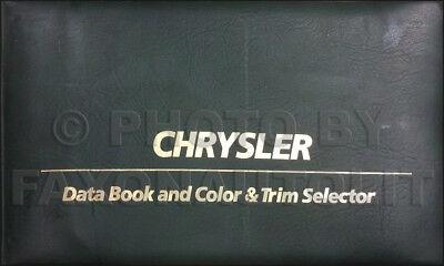 1980 Chrysler Color Upholstery Dealer Album Data Book LeBaron Cordoba New Yorker