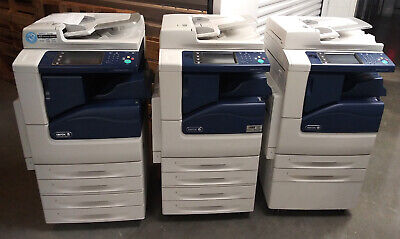 Xerox WorkCentre 7225 Color Copier w/Scan, Print, Staple, Finisher - Low Meter