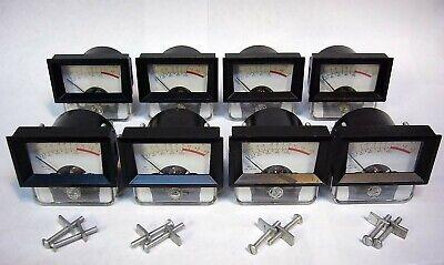 8 Hoyt Usa 1-12 Mini Vu Analog Audio Level Meters 1970s