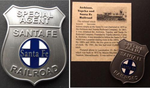 Santa Fe Railroad Special Agent Badge, rail, western