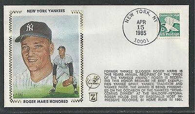1985 NEW YORK YANKEES, ROGER MARIS HONORED,BASEBALL,SPORTS