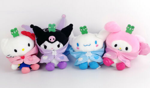 4X sanrio Kuromi Hello Kitty My Melody Cinnamoroll Pendant Plush Toys 5''