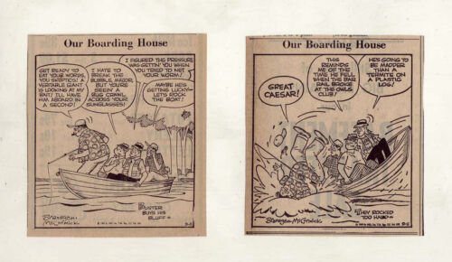 Our Boarding House w/ Major Hoople - 13 daily comic panels from September 1969