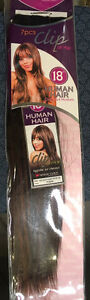 100% Human Hair 7pc 18 inch clip on hair extensions Cornwall Ontario image 2