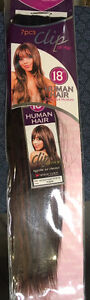 100% Human Hair 7pc 18 inch clip on hair extensions Kitchener / Waterloo Kitchener Area image 2