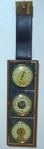 Vintage  Rare Wall Mounted Weather Station By Fisher