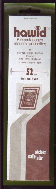 hawid Klemmtaschen  Streifen schwarz 210 mm lang für Markenhöhe 21 mm bis 55 mm 210 mm x 52 mm