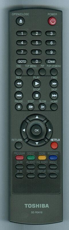 Toshiba OEM Remote SE-R0418, BDK33KU, BDX5300KU, BDX3300KU, BDX2300KU, BDX4300KU - $9.95