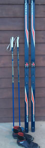 Salomon Cross Country skis, poles and boots~~~