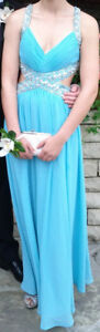 Turquoise Dress for Prom or Wedding