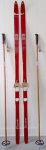 Vintage JARVINEN X Country Skis Antique FREE DELIVERY