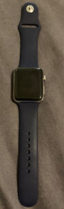 Apple Watch series 2, Stainless Steel, Midnight Blue sport band