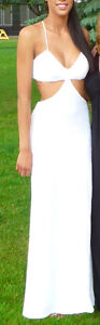 White Sequin Gown worn only 1 hour for photo shoot size 1 to 2