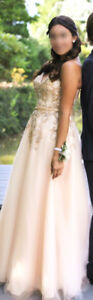 Champagne Prom Dress size 6-8