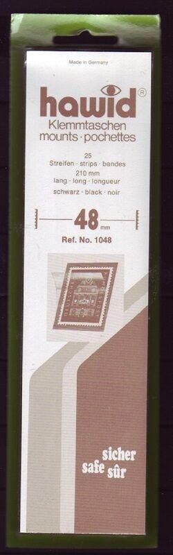 hawid Klemmtaschen  Streifen schwarz 210 mm lang für Markenhöhe 21 mm bis 55 mm 210 mm x 48 mm