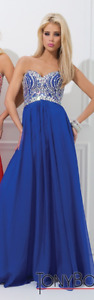 Beaded Bodice Dress Tony Bowls Paris (Prom Dress Size 6)