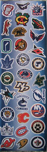 NHL hockey logo stickers