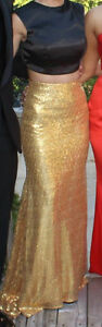 Black and Gold Two-Piece Prom Dress London Ontario image 2