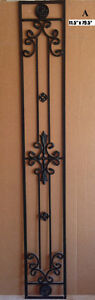 Decorative wrought iron accents