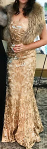 Gold Sequence evening gown