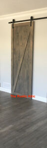 Sliding Barn Door Custom Rustic Pine or Barn Board Soft Close