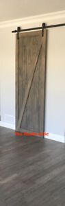 Sliding Barn Door Rustic Pine Bypass Custom Handcrafted Softclos