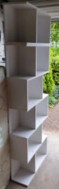 TOP-MAX Wood Bookshelf Shelves S Shape Storage Display Shelving 3 Tier