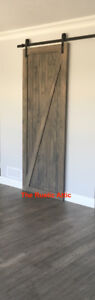 Sliding Barn Door Custom Handcrafted Bypass Soft Close Pine BB