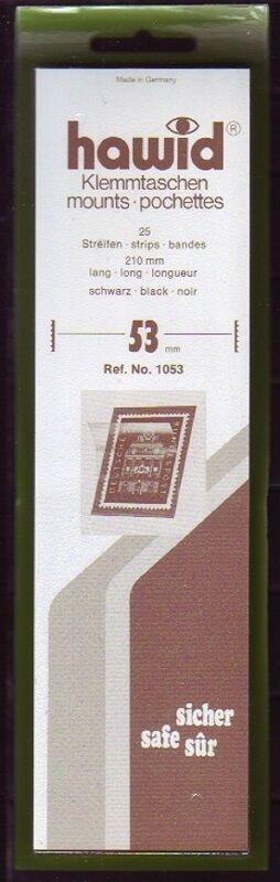 hawid Klemmtaschen  Streifen schwarz 210 mm lang für Markenhöhe 21 mm bis 55 mm 210 mm x 53 mm